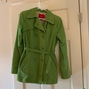 Green Fall Trench Jacket (M)
